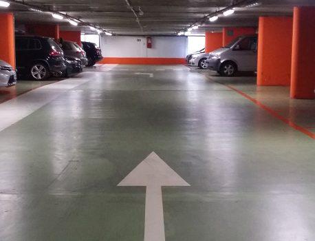Pavimentazione parcheggi, garages, autofficine